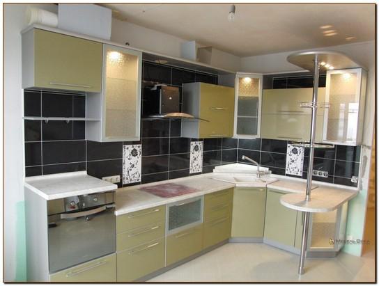 Кухни модерн угловые с барной стойкой