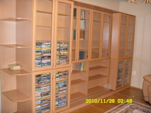 10-1 раздвижная библиотека на заказ