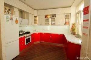 41 кухня  модерн встроенная красно-белая